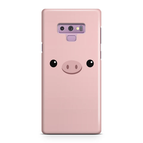 Pink Pig Face Samsung Galaxy Note 9 Case
