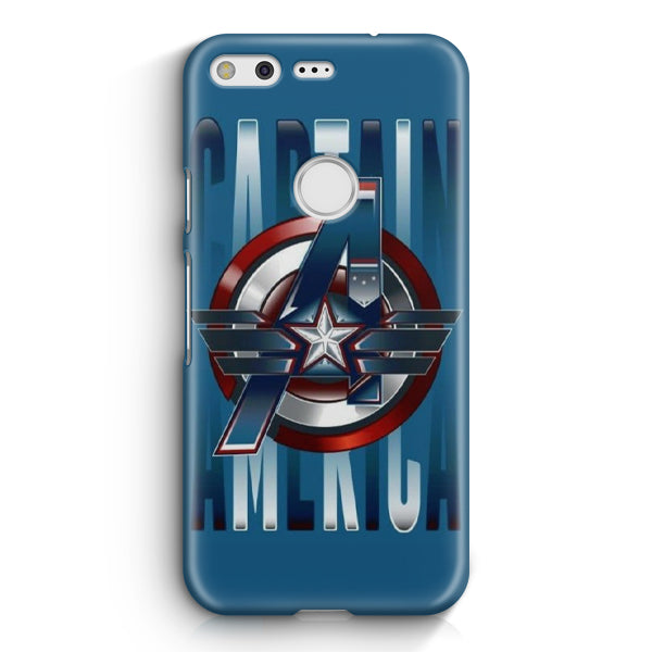 Blue Avengers Captain America Google Pixel XL Case