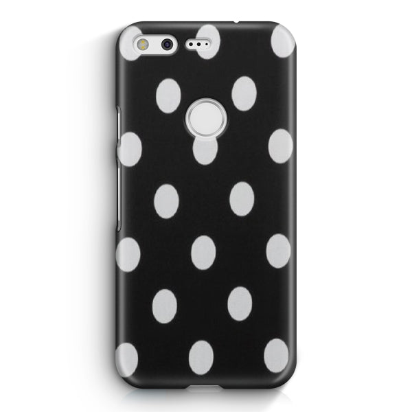 Polka Dot Black White Google Pixel XL Case