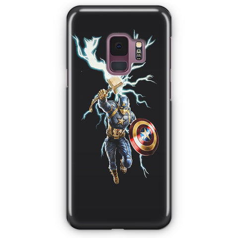 Marvel Avengers Endgame Shield & Hammer Samsung Galaxy S9 Case