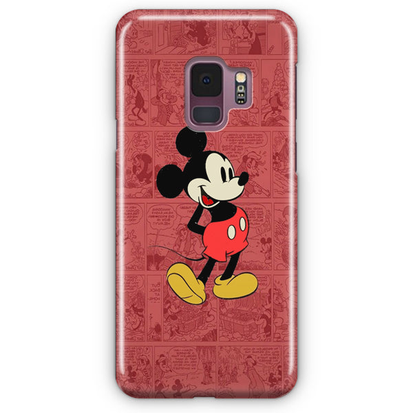 Mickey Mouse Black Samsung Galaxy S9 Case