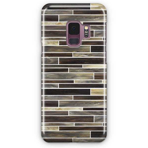 Tan With Brown Backsplash Samsung Galaxy S9 Case