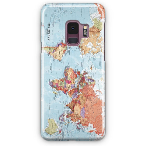World Maps Samsung Galaxy S9 Case