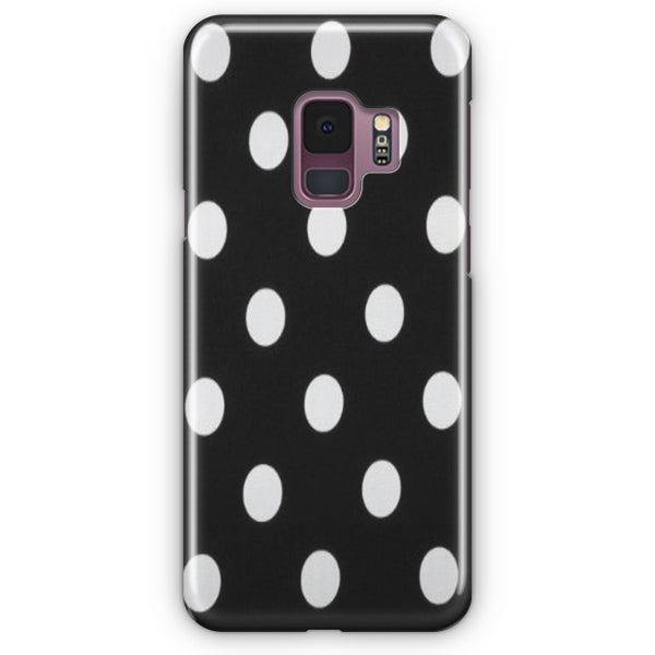 Polka Dot Black White Samsung Galaxy S9 Case