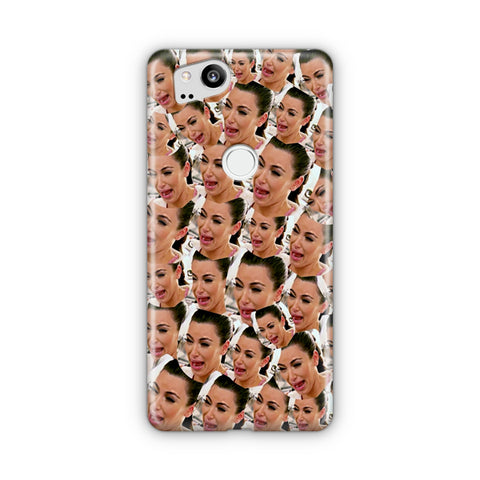 Kim Kardashian Crying Collage Google Pixel Case
