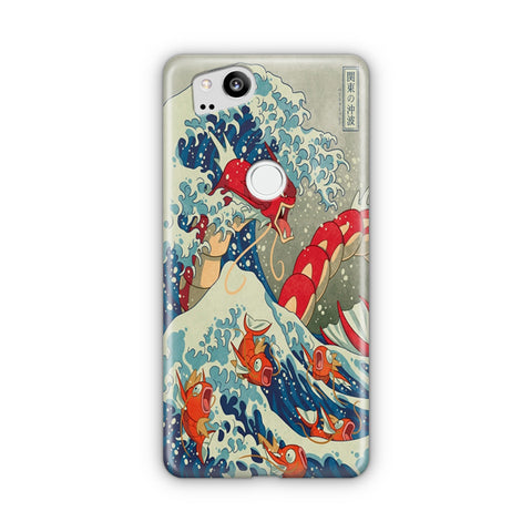 The Great Wave Of Kanto Pokemon Google Pixel Case