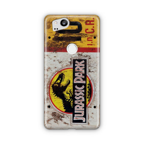 Jurassic Park Jeep License Number 10 Google Pixel Case