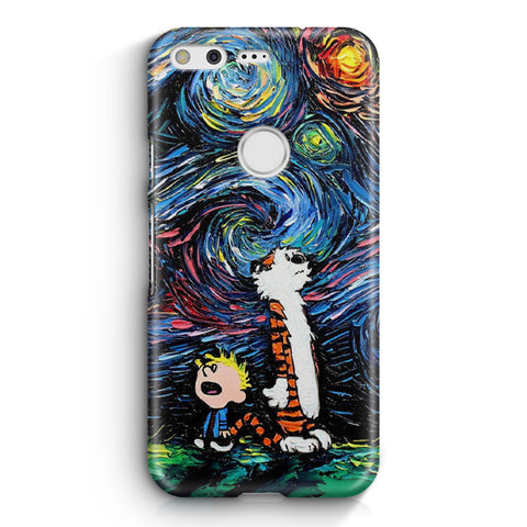 Calvin and Hobbes Art Starry Night Google Pixel XL Case
