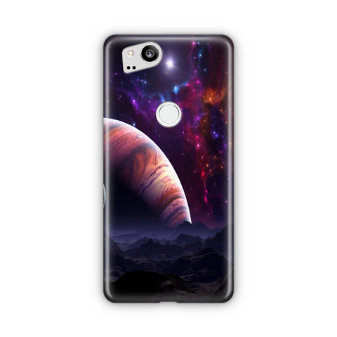 Space Planets Art Colorful Google Pixel 2 Case