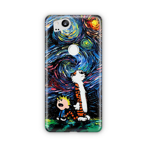 Calvin and Hobbes Art Starry Night Google Pixel Case