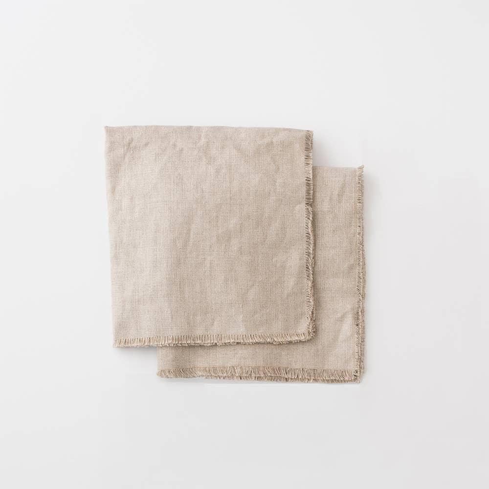 Fringed Linen Napkin Set