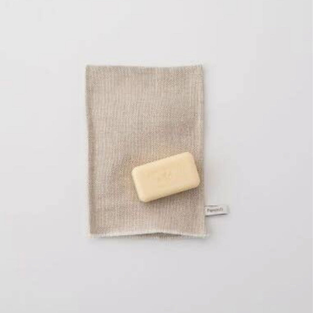 Linen Washcloth Mitt