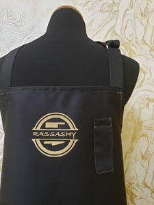 Bespoke Apron in contrast Gold Stitching - High Quality Poly/Cotton