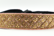 Load image into Gallery viewer, Baby Pink With Gold Flower Crystals CINCHEX Belt