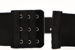 "Black Sequin ""CINCHEX"" BELT"