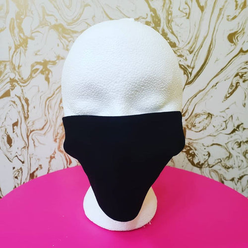 Handmade Black Moisture Wicking Highly-Breathable Face Mask - Adults