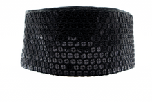 "Load image into Gallery viewer, Black Sequin ""CINCHEX"" BELT"