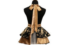 Load image into Gallery viewer, Black & Gold Hostess Apron