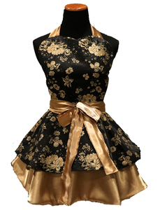 Black & Gold Hostess Apron