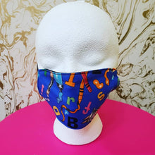 Load image into Gallery viewer, Handmade Blue Kids Artist Cloth Face Mask
