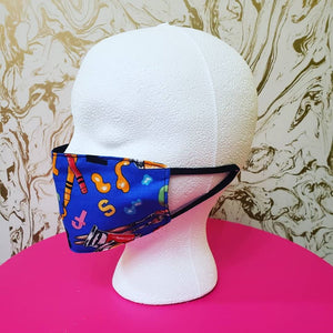 Handmade Blue Kids Artist Cloth Face Mask