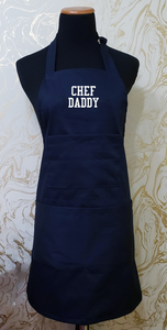 "Chef's Bib Apron ""Chef Daddy"" - Various Colours Available"