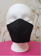 Load image into Gallery viewer, Deluxe Black Cloth Moisture Wicking Highly-Breathable Face Mask - Adults