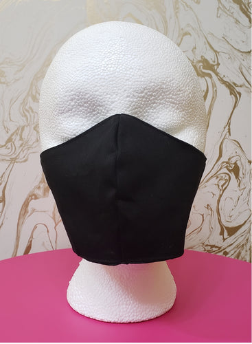 Deluxe Black Cloth Moisture Wicking Highly-Breathable Face Mask - Adults