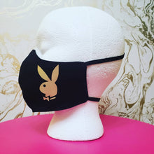 Load image into Gallery viewer, Deluxe Black Cloth Bunny Moisture Wicking Highly-Breathable Face Mask