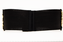 Load image into Gallery viewer, Gold Crystals on Black Velvet CINCHEX Belt