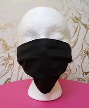 Load image into Gallery viewer, Black Filtered Face Mask - 3 Layers with Built in Filter - Adults