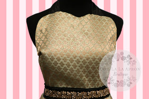 Bollywood Glam -Mint & Green Couture Hostess Apron