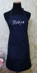 Chef's Bib Apron - Custom Name or Logo Printed - Various Colours Available