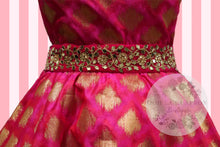 Load image into Gallery viewer, Bollywood Glam -Pink & Gold Couture Hostess Apron