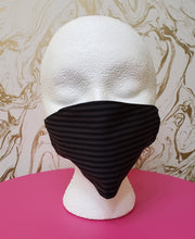 Load image into Gallery viewer, Handmade Pinstripe Cloth Face Mask - Adults