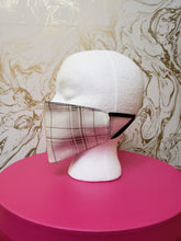 Load image into Gallery viewer, Handmade White & Tan Plaid Cloth Face Mask - Kids