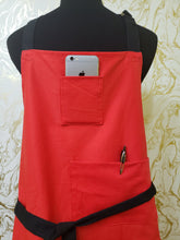 Load image into Gallery viewer, Chef's Bib Apron - with Phone Pocket - Various Colours Available