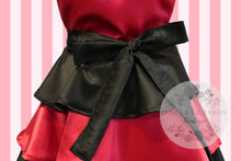 Load image into Gallery viewer, Black and Hot Pink Retro Hostess Apron