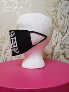 "Handmade ""Straight Outta Quarantine"" Black Moisture Wicking Highly-Breathable Face Mask"