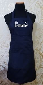 "Chef's Bib Apron ""The Grillfather"" - Various Colours Available"