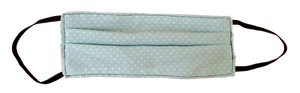 Tiffany Blue & White Polka Dot Nursing Apron with Matching 3 Layers Filtered Face Mask & Keepsake Gift Box - Various Colors Available
