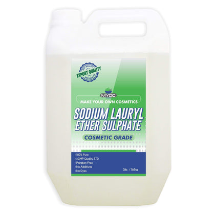 Salvia Cosmetic Raw Material 5 Litre MYOC Sodium Lauryl Ether Sulphate | Face, Hair, Hand Wash Products | Cleanser, Foaming Agent, Emulsifier | Used in Shampoo, Soap, Detergent, Bubble Bath, Shower Gel (5 Litre)