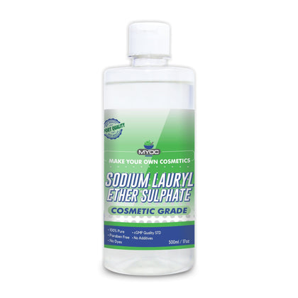 Salvia Cosmetic Raw Material 500ML MYOC Sodium Lauryl Ether Sulphate | Face, Hair, Hand Wash Products | Cleanser, Foaming Agent, Emulsifier | Used in Shampoo, Soap, Detergent, Bubble Bath, Shower Gel (5 Litre)