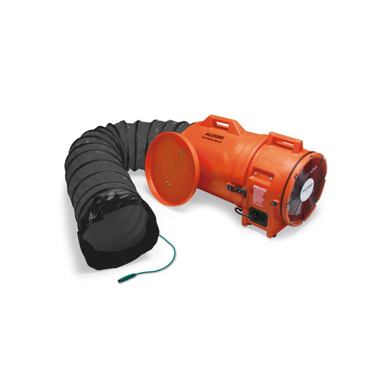 Allegro 12″ Axial Explosion-Proof (EX) Plastic Blower w/ Canister & Ducting (each)