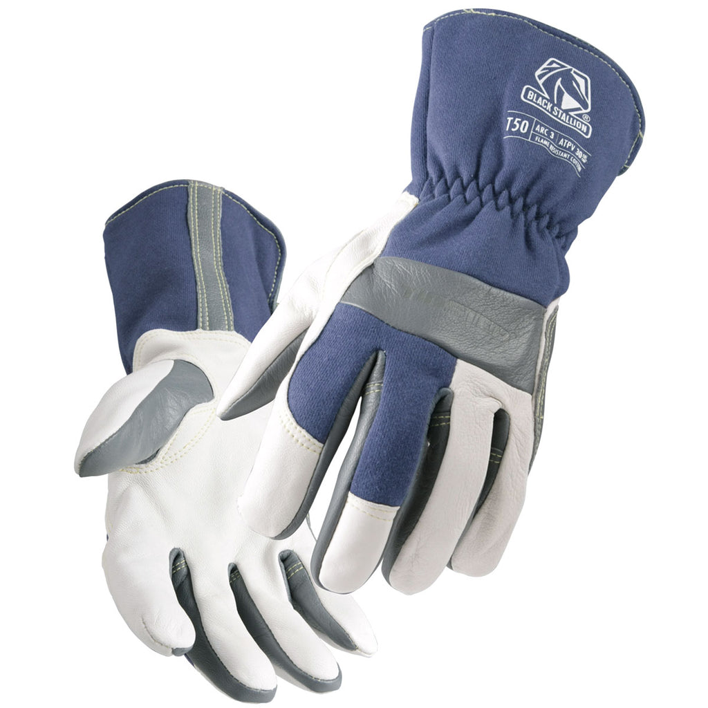 Black Stallion T50 Premium Grain Goatskin & FR Cotton TIG Welding Glove