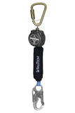 FallTech 72706SB1 6' Mini Personal SRL with Steel Snap Hook, Includes Steel Dorsal Connecting Carabiner (each)
