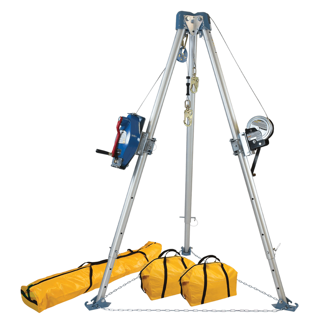FallTech 11' Confined Space Tripod System, 60' Steel SRL-R and Personnel Winch (each)