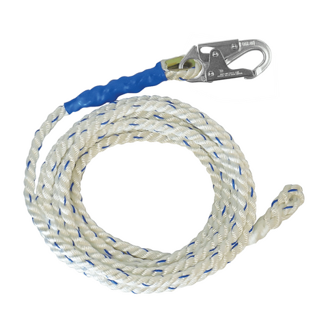 FallTech Premium Polyester Blend Vertical Lifeline with Back-spliced End (each)