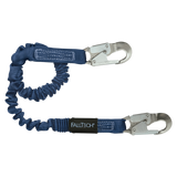 FallTech 8240A 4½' to 6' ElasTech® Energy Absorbing Lanyard, Single-leg with Aluminum Snap Hooks (each)