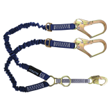 FallTech 8240Y32D2R 4½' to 6' ElasTech® Energy Absorbing Lanyard, Double-leg with SRL and Rescue D-rings (each)